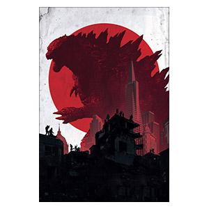 Godzilla. Размер: 30 х 45 см